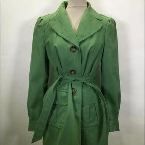 Ann Taylor Long Sleeve Button Up Trench Coat SZ M